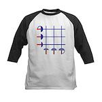 Fencing Sword Grid Kids Baseball Jersey