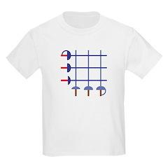Fencing Sword Grid Kids T-Shirt