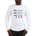 Fencing Sword Grid Long Sleeve T-Shirt