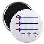 Fencing Sword Grid Magnet