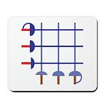 Fencing Sword Grid Mousepad