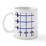 Fencing Sword Grid Mug