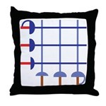 Fencing Sword Grid Throw Pillow