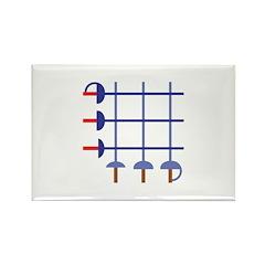 Fencing Sword Grid Rectangle Magnet