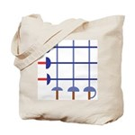 Fencing Sword Grid Tote Bag