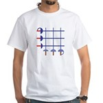 Fencing Sword Grid White T-Shirt