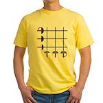 Fencing Sword Grid Yellow T-Shirt
