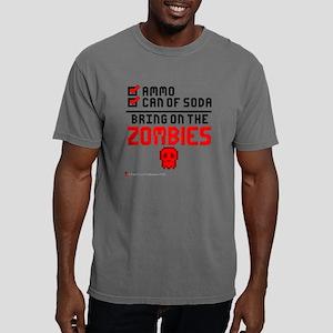 Zombies (Light Backgroun Mens Comfort Colors Shirt