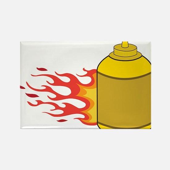 Mustard Bottle Rectangle Magnet