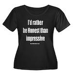Honest1 Women's Plus Size Scoop Neck Dark T-Shirt