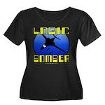 Logic Bomber 2 Women's Plus Size Scoop Neck Dark T