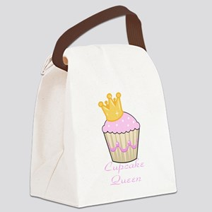 cupcake queen pink cuppycake Canvas Lunch Bag