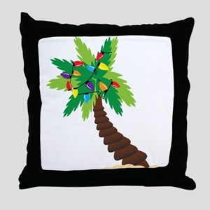 Christmas Palm Tree Throw Pillow