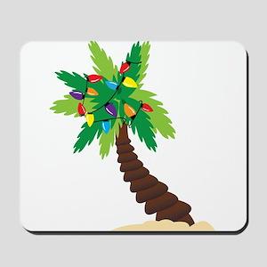 Christmas Palm Tree Mousepad