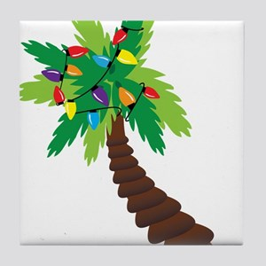 Christmas Palm Tree Tile Coaster