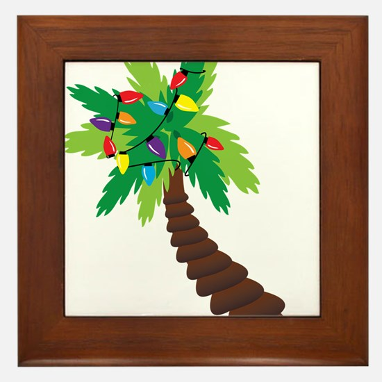 Christmas Palm Tree Framed Tile