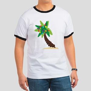 Christmas Palm Tree Ringer T