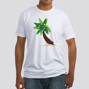 Christmas Palm Tree Fitted T-Shirt