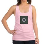 Cathedral Blue Monogram Racerback Tank Top