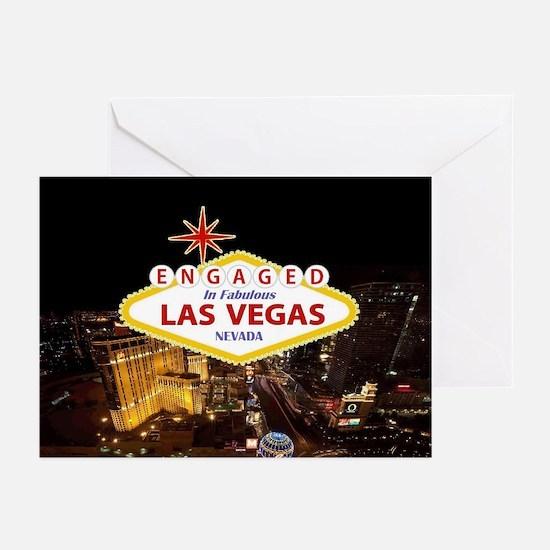 Engaged In Las Vegas Greeting Cards (Pk of 20)