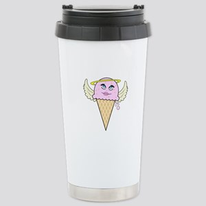 cute angel pink ice cream cone Stainless Steel Tra