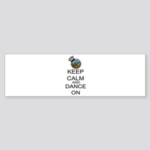 Keep Calm And Dance On Sticker (Bumper)