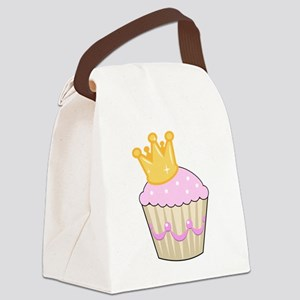 cucpake with crown Canvas Lunch Bag