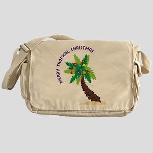 Merry Tropical Christmas Messenger Bag
