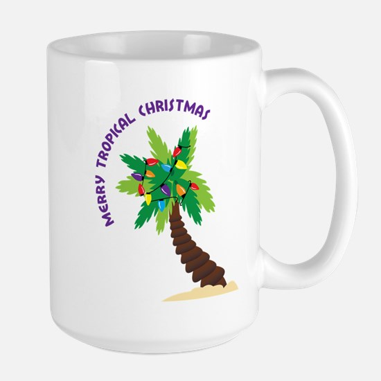 Merry Tropical Christmas Large Mug