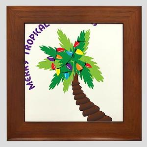 Merry Tropical Christmas Framed Tile