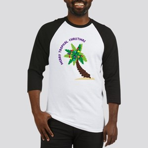 Merry Tropical Christmas Baseball Jersey