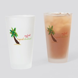 First Tropical Christmas Drinking Glass