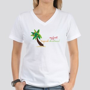 First Tropical Christmas Women's V-Neck T-Shirt