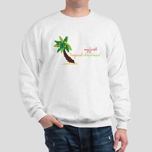 First Tropical Christmas Sweatshirt