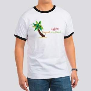 First Tropical Christmas Ringer T
