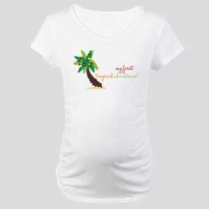 First Tropical Christmas Maternity T-Shirt