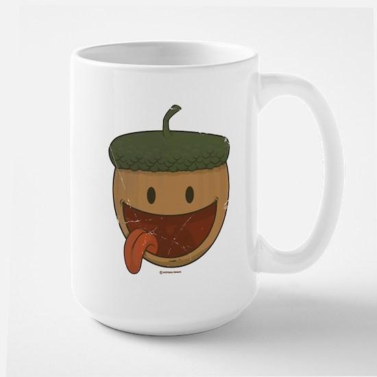 Retro print, nuts Large Mug