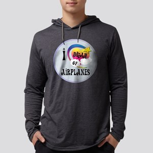 I Dream of Airplanes Mens Hooded Shirt