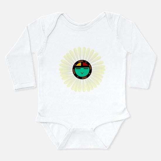 Native American Sun God Long Sleeve Infant Bodysui