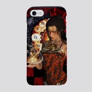 Wonderful steampunk lady with clocks and gears iPh