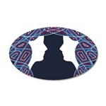 Patriot Twins 20x12 Oval Wall Decal