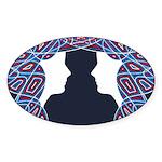Patriot Twins Sticker (Oval 50 pk)