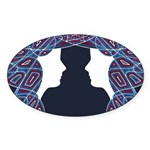 Patriot Twins Sticker (Oval 10 pk)