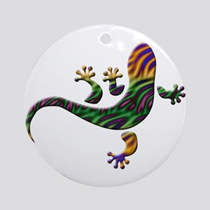 Cool Gecko 2 Ornament (Round)