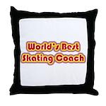 Worlds Best Skating Coach Throw Pillow