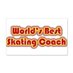 Worlds Best Skating Coach 20x12 Wall Decal