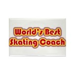 Worlds Best Skating Coach Rectangle Magnet