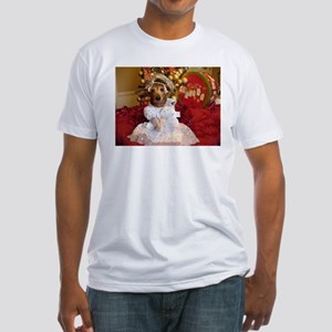 Dachshund Christmas angel Fitted T-Shirt