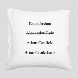 Charade Square Canvas Pillow