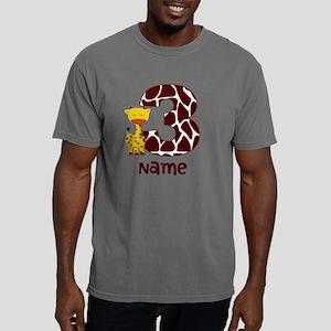 3rd Birthday Giraffe Mens Comfort Colors Shirt